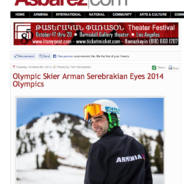 Asbarez News: Olympic Skier Arman Serebrakian Eyes 2014 Olympics