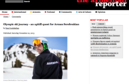 Armenian Reporter: Olympic Ski Journey – an uphill quest for Arman Serebrakian