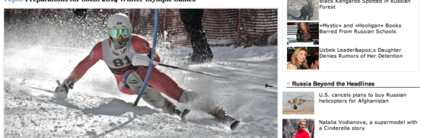 RIA Novosti: US Skier Chases Olympic Dream for Armenia in Sochi